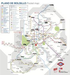El plano del metro de Madrid, herramienta indispensable para moverse en una ciudad tan grande