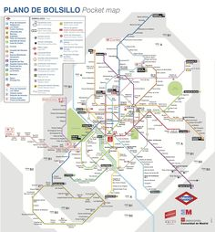 Plano Metro Madrid 2013 / Madrid subway