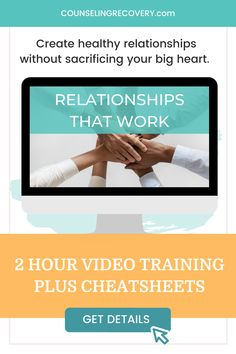 Relationship recovery is about going from relationships that don't serve you to learning how to trust yourself and create loving, mutually satisfying connections that work. Learn how to trust yourself, set boundaries, communciate effectively and more in this on-demand course with video lessons and cheatsheets. If you need relationship skills as a codependent person, I'm your gal! #relationships #codependency #recovery #marriage #relationshipadvice Codependency Recovery, Setting Boundaries, Low Self Esteem, Online Work, Healthy Relationships, Trust Yourself, Relationship Advice, Counseling, Online Courses