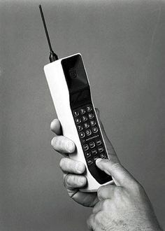 The Motorola DynaTAC 8000X first received its approval from the U.S. Federal Communications Commission and become the world's first commercial handheld mobile phone (Cell Phone to the Americans). Description from phonesreview.co.uk. I searched for this on bing.com/images