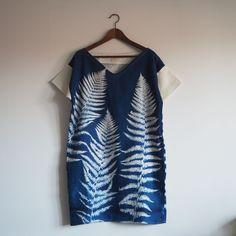 kapradí - lněné šaty s modrotiskem   Zboží prodejce anniné a79c45c593
