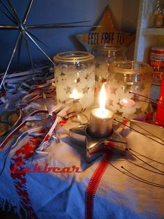 Lakbear has shared 1 photo with you! Christmas Diy, Candles, Lights, Table Decorations, Creative, Photos, Home Decor, Pictures, Decoration Home