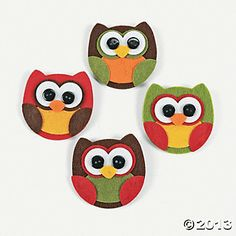 Owl Pin Craft Kit, Crafts, Handmade Halloween, Gifts - Terry's Village Holiday Decor