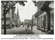 Insterburg, Blick von der Königsberger Str. auf den Alten Markt
