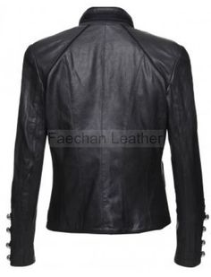 Women Military Leather Jacket - Designed for Fashion Lovers