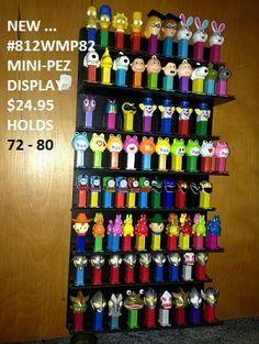 PEZ Display - hangs on wall $25-29