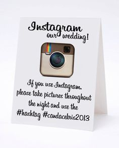 Instagram My Wedding Hashtag Cards Wedding Calligraphy by ilulily
