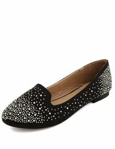 sueded rhinestone studded loafer - Charlotte Russe Crazy Shoes, Me Too Shoes, Studded Loafers, Shoes Sandals, Flats, Walk This Way, Ballerina Shoes, Buy Shoes, Charlotte Russe