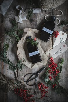 A Local Milk Christmas | Balsam Fir Syrup Recipe for last minute DIY gifts you can make with tree trimmings! + Foraged Gift Wrapping, DIY Tree Trimming Garland, and Fennel Rosemary Snowflake Cookies