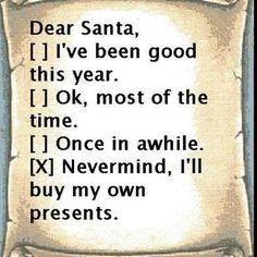 ;) Dear Santa