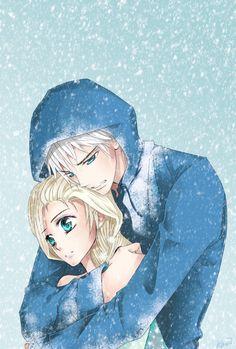 Jelsa (Jack X Elsa): Let it go. by KiriiGlumanda on deviantART | Frozen's Elsa and Rise of the Guardians' Jack Frost