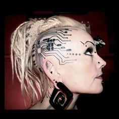 WOW! #cyber #cyborg #cyberpunk #technology #tech #transhumanism #transhuman #robot #futuristic #future #tattoo #ink #cyberpunkstyle