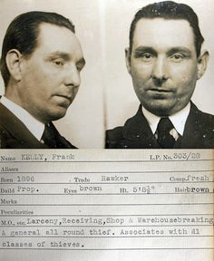 This mug shot comes from a police identification book believed to be  from the 1930s. It was originally found in a junk shop by a member of  the public and subsequently donated to Tyne & Wear Archives & Museums.  No information is available to confirm which police force compiled it  but evidence suggests it's from the Newcastle upon Tyne area.