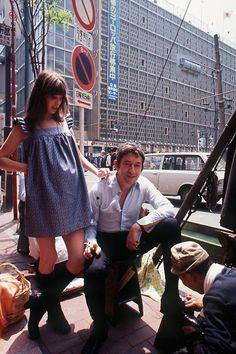 Serge Gainsbourg and Jane Birkin (pregnant with Charlotte), 1971.