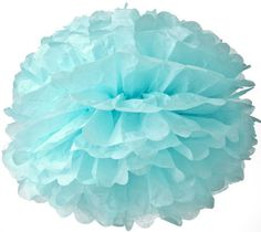 Ice Blue Tissue Paper Pom Pom (15 inch) - Luna Bazaar has the most options