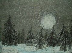 Moonlit Snow Flurries