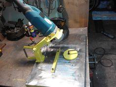 przecinarka do metalu (gumówka) samoróbka/Homemade angle grinder stand