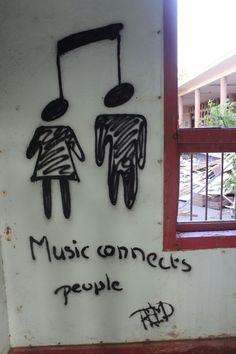 This is street art and location, street art is also known as graffiti or urban… Music Lyrics, Music Quotes, Music Humor, Quotes About Music, Music Is Life, My Music, Music Notes Art, Music Den, Music Wall Art