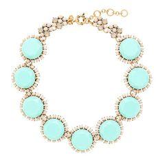 Nine-stone crystal necklace - necklaces - Women's jewelry - J.Crew