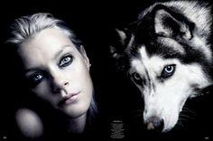 Jessica Stam for Garage Magazine // #editorial #fashion #dog