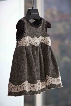 Great mix of lace and tweed for little ones at Dolce & Gabbana winter 2012