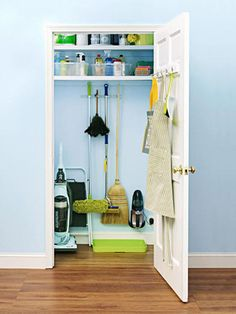 It only makes sense that your cleaning closet be clean!