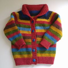 Boys Knitting Patterns Free, Baby Cardigan Knitting Pattern, Knitting For Kids, Knitting Designs, Baby Patterns, Knitting Ideas, Knit Baby Sweaters, Knitted Baby Clothes, Sweater Design