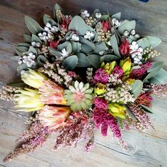 Protea, boronia, tea-tree and tetragona floral wreath by RANE flowers Flower Wreaths, Floral Wreath, Flower Farm, Growing Flowers, Tea Tree, Nativity, Flower Arrangements, Bouquet, Create