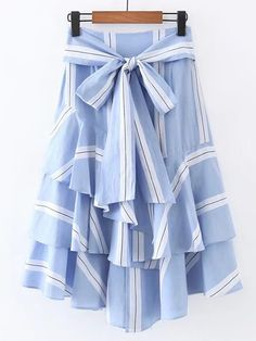 Shop Bow Tie Waist Layered Ruffle Skirt online. SheIn offers Bow Tie Waist Layered Ruffle Skirt & more to fit your fashionable needs.