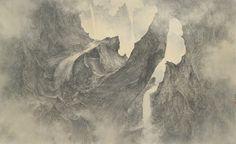LI HUAYI B. 1948 IMMORTAL MOUNTAIN: PURELAND STREAMS (2014) 38 x 63 in.