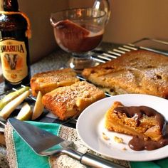 Deliciously decadent warm Amarula soaked pear and almond cake with chocolate custard served up by #freshlyblogged contestant Natasha Silva  #recipe #picknpay