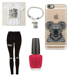 """""""Koala"""" by foreverlovedk16 ❤ liked on Polyvore featuring Casetify, Topshop and OPI"""
