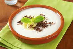 Milk porridge with banana puree and nutmeg. This is a great option for breakfast. Rice Porridge, How To Cook Rice, Home Recipes, Panna Cotta, Pudding, Bananas, Cooking, Breakfast, Ethnic Recipes