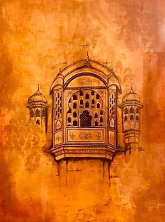 Burnt in Sienna: Jaipur Diaries. Page The elegance of these in. China Architecture, Watercolor Architecture, Watercolor Illustration, Watercolor Paintings, India Painting, Indian Art Paintings, Madhubani Painting, Bullet Journal Art, Islamic Art Calligraphy