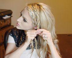 A Double Dutch Braid Hair Tutorial