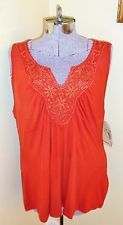 NWT Women's Size XL One World Live & Let Live Sleeveless Shirt Top Tunic