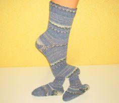 Socken für Mama  und Baby von Strickwelten auf DaWanda.com