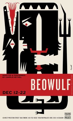 """""""Beowulf"""" Theatre Project Poster by Spur"""