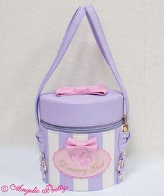 Angelic Pretty Dreamy Girl Vanity bag in lavender Unique Handbags, Unique Purses, Cute Purses, Purses And Bags, Looks Kawaii, Kawaii Bags, Kawaii Stuff, Girls Vanity, Novelty Bags