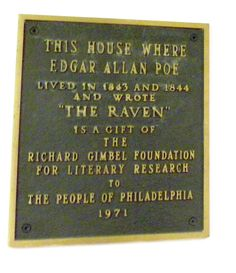 Plaque at Poe house Phila. | Flickr - Photo Sharing!