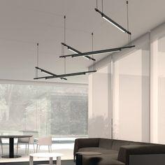 'Suspenders Zig Zag 36 inch Five-Bar Multi Light Pendant by Sonneman. @2Modern'