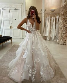 Wedding Dresses Lace Long Stunning Ball Gown V Neck Open Back Ivory Tulle Wedding DressesLace Bridal Gown.Wedding Dresses Lace Long Stunning Ball Gown V Neck Open Back Ivory Tulle Wedding DressesLace Bridal Gown Ivory Lace Wedding Dress, V Neck Wedding Dress, Wedding Dress Trends, Princess Wedding Dresses, Modest Wedding Dresses, Bridal Lace, Disney Wedding Dresses, Most Beautiful Wedding Dresses, Perfect Wedding Dress