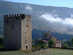 Torre Medieval e Iglesia Románica de Valdenoceda. Las Merindades (Burgos)