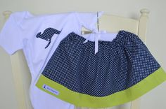 Matching set Skirt and blue kangaroo by BlueKangarooHandmade