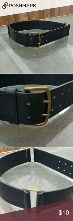"Target black belt Target black belt wear it with a cute dress or over a long shirl length 34"" width 2.25 "" Target Accessories Belts"