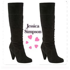 Jessica Simpson black suede knee-high boots Jessica Simpson black suede knee-high boots.  Super comfy.  Worn a handful of times.  In excellent condition.  Heel is about 2.5-3 inches. Jessica Simpson Shoes Heeled Boots