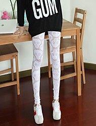 Women's Fashion Skull Pattern Jacquard Weave Sexy Leggings