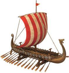 Drekar, the Viking Longship Collectible Museum Replica Ship Model