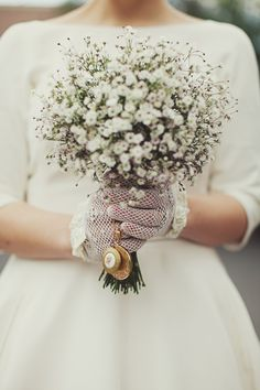 Baby's Breath bouquet @Melanie Bauer Bauer cecilia fox