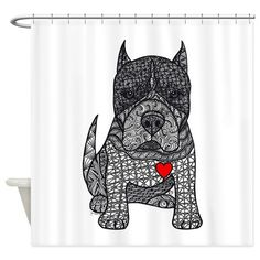 Devotion -American Pitbull Terrier 2 Shower Curtai on CafePress.com